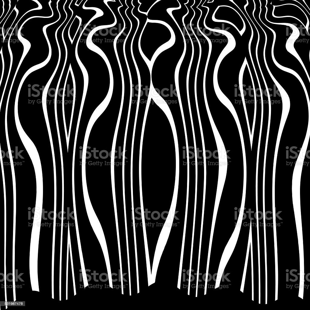 Tall vertical wavy striped pattern background vector art illustration