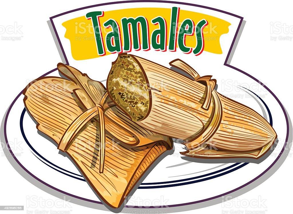 Tamales vector vector art illustration