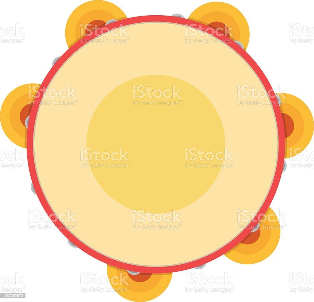 Tambourine vector illustration. vector art illustration