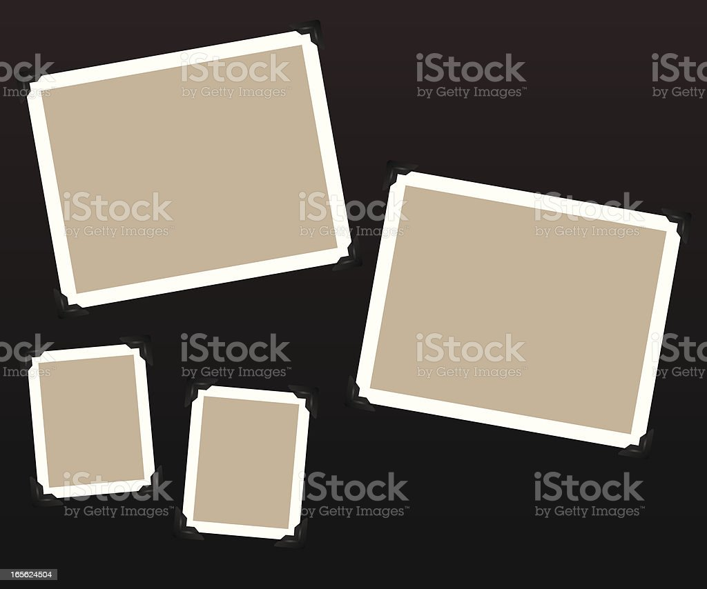 Tan and white, blank scrapbook pages vector art illustration
