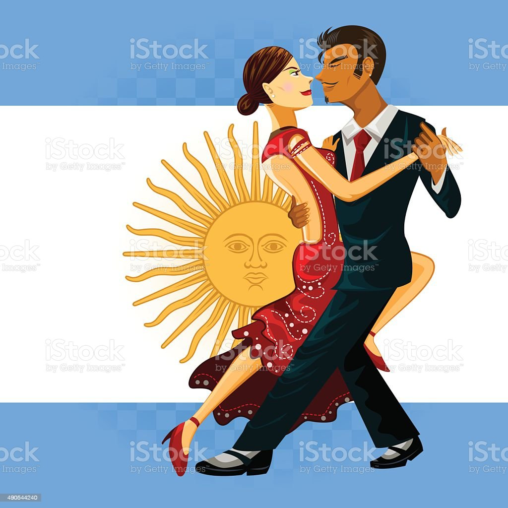 Tango Dance vector art illustration