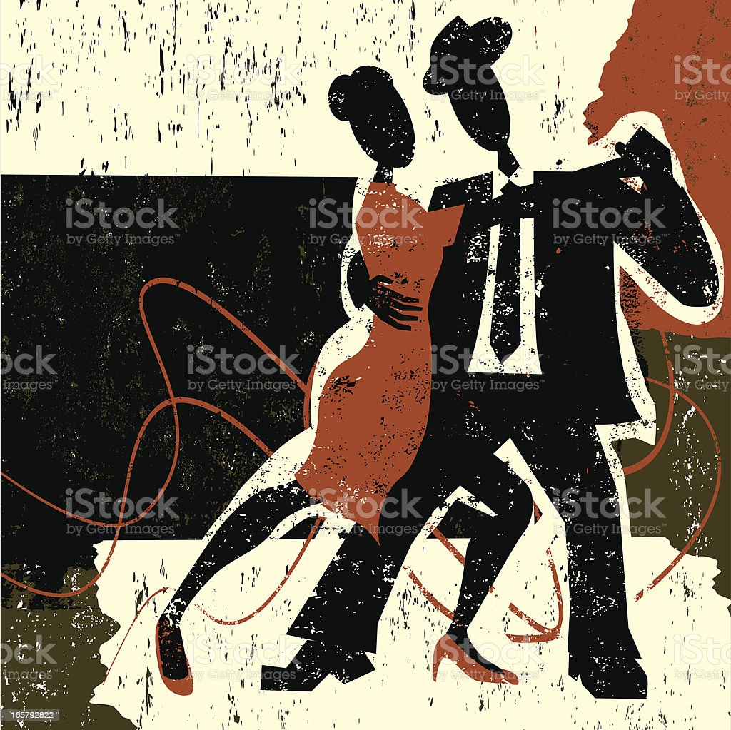 Tango dancing royalty-free stock vector art