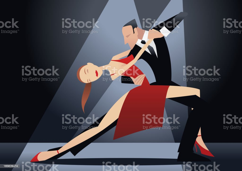 Tango show royalty-free stock vector art