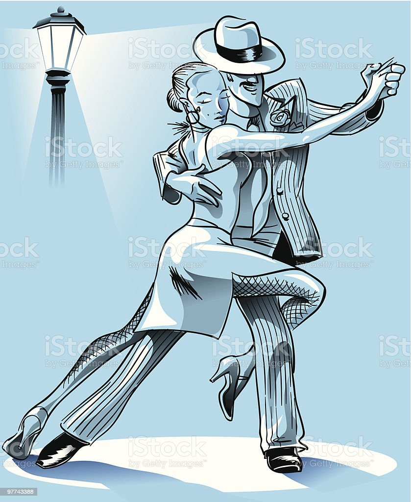 Tango steps royalty-free stock vector art