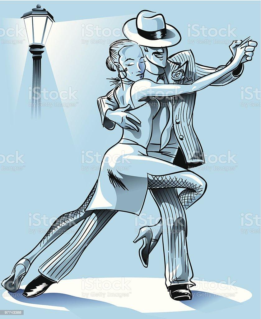 Tango steps vector art illustration