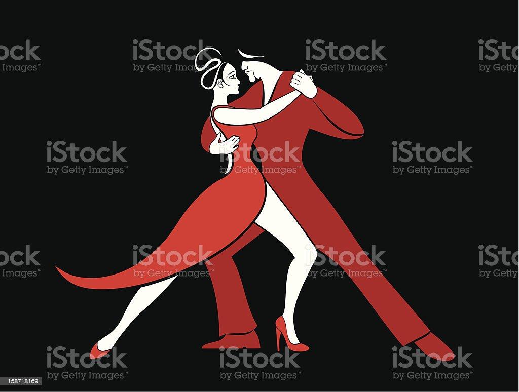 Tango royalty-free stock vector art