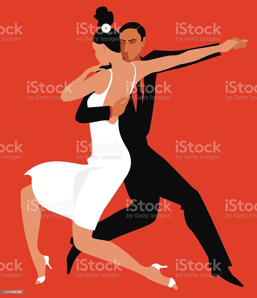 Tango vector art illustration