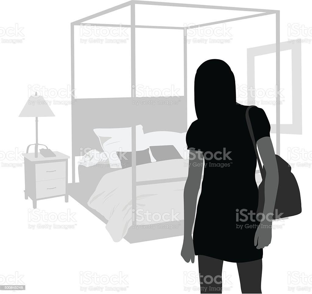 Tania's Bedroom vector art illustration