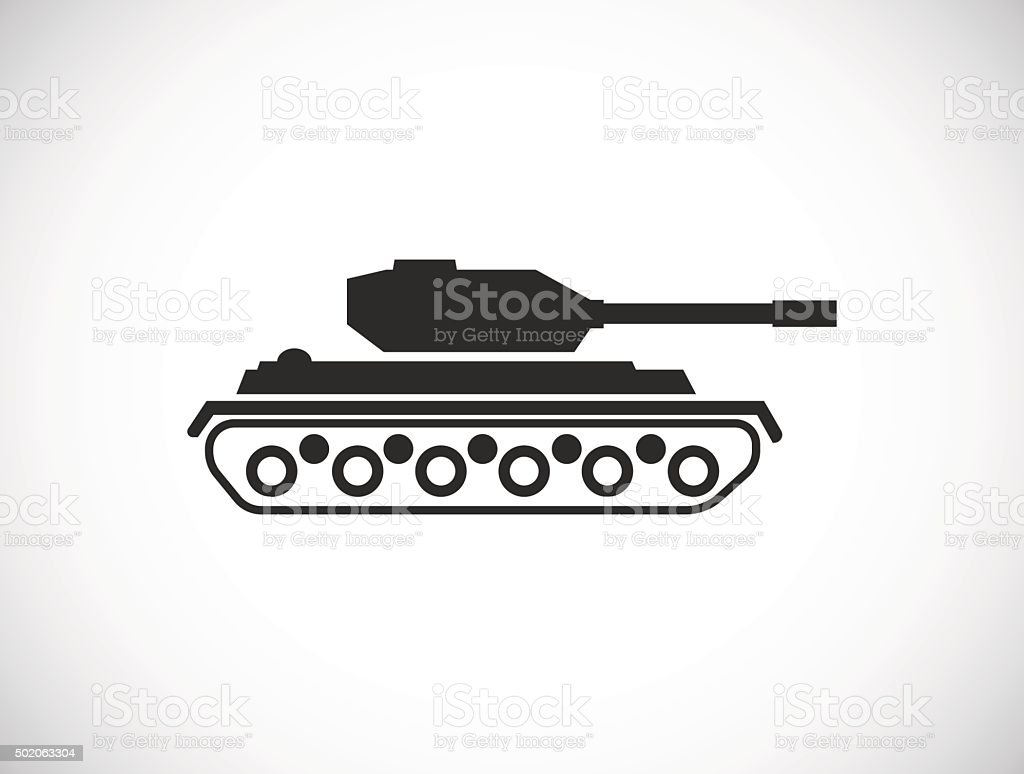 tank icon vector art illustration