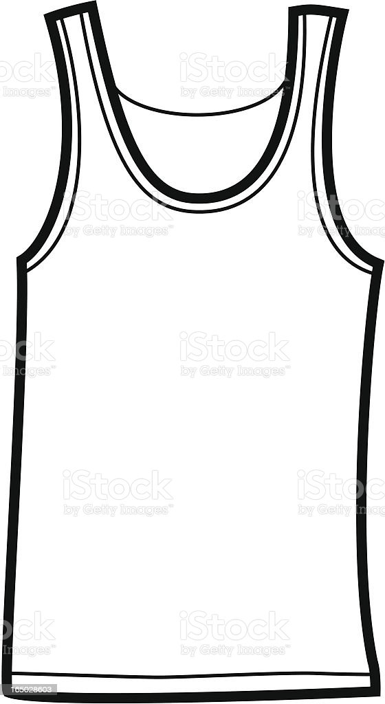 Tank Top royalty-free stock vector art
