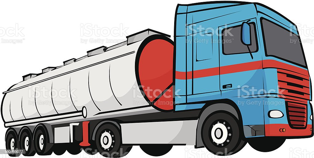 tank truck royalty-free stock vector art