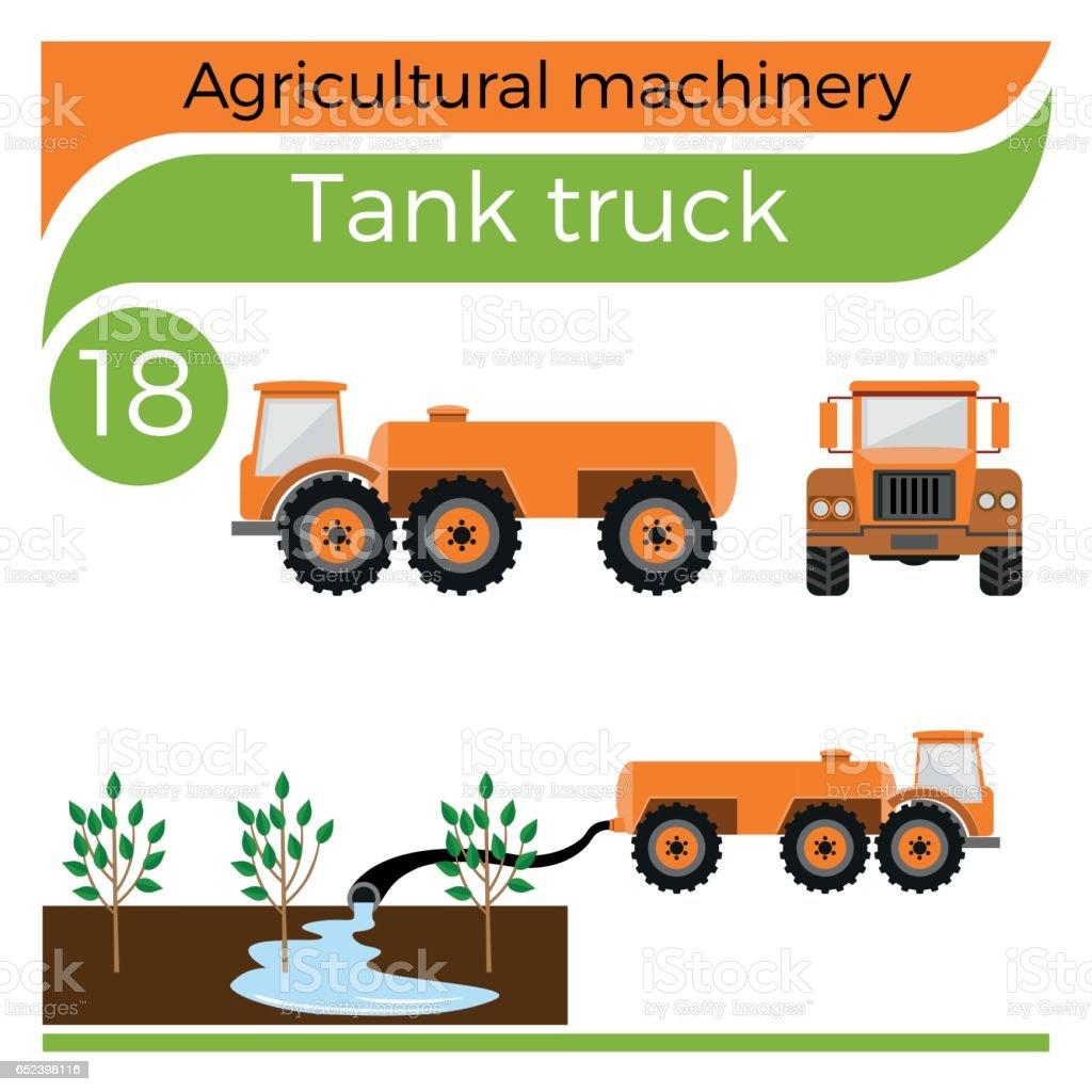 Tank truck vector art illustration