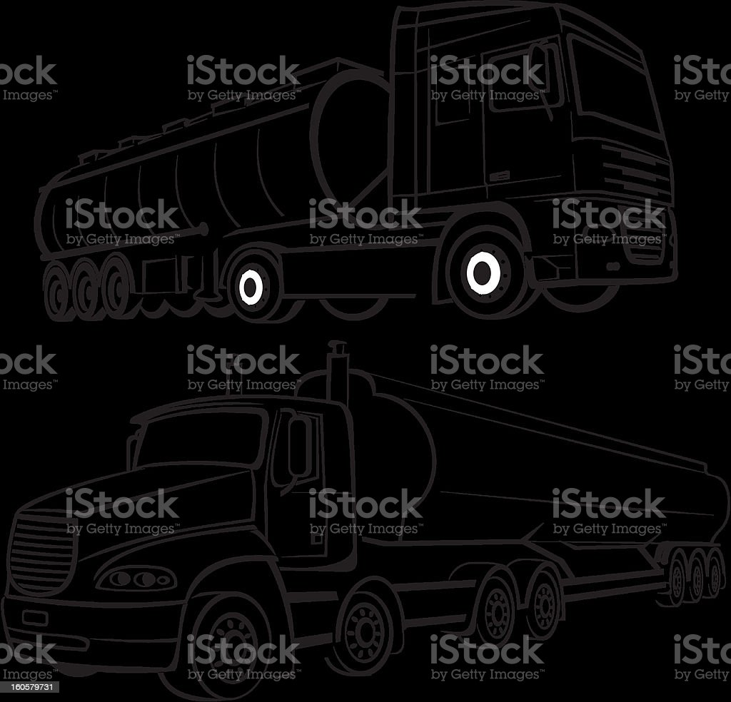 tank truks royalty-free stock vector art