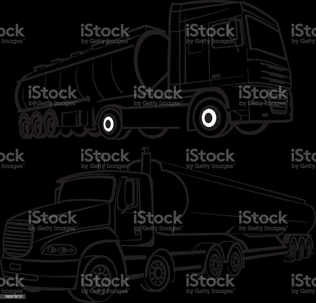 tank truks vector art illustration