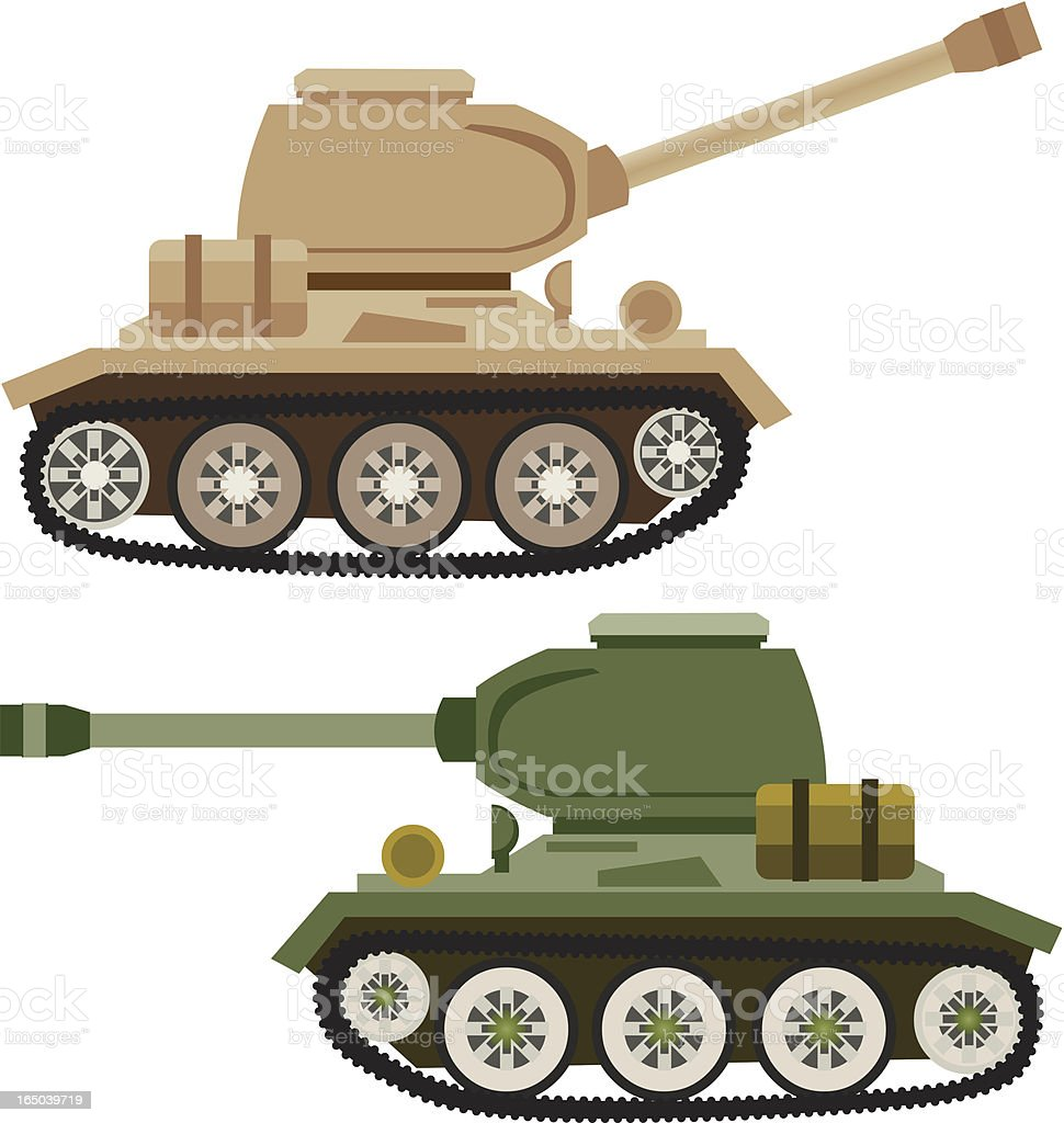Tank vector art illustration