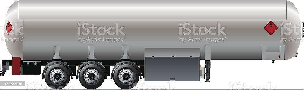 Tanker car vector art illustration