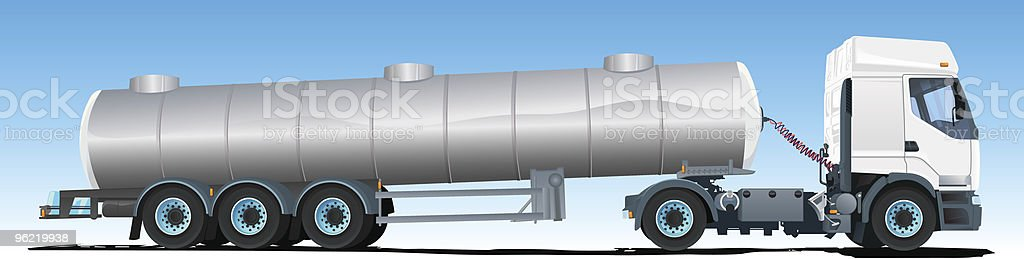 Tanker semi-trailer Truck royalty-free stock vector art