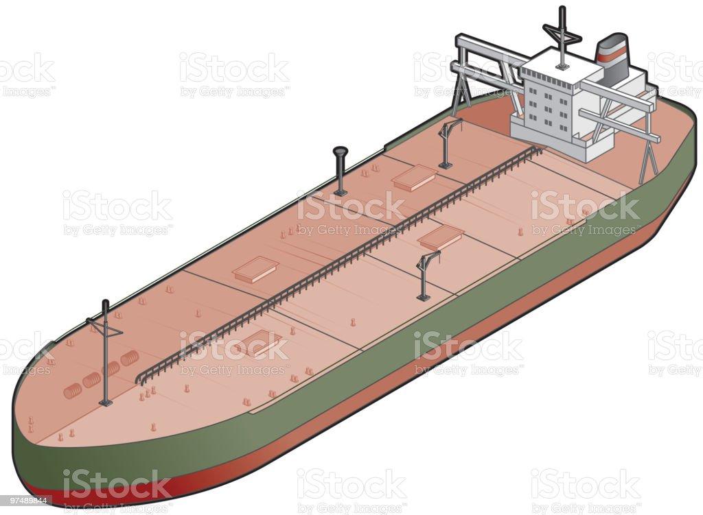 Tanker Ship Icon. Design Elements royalty-free stock vector art