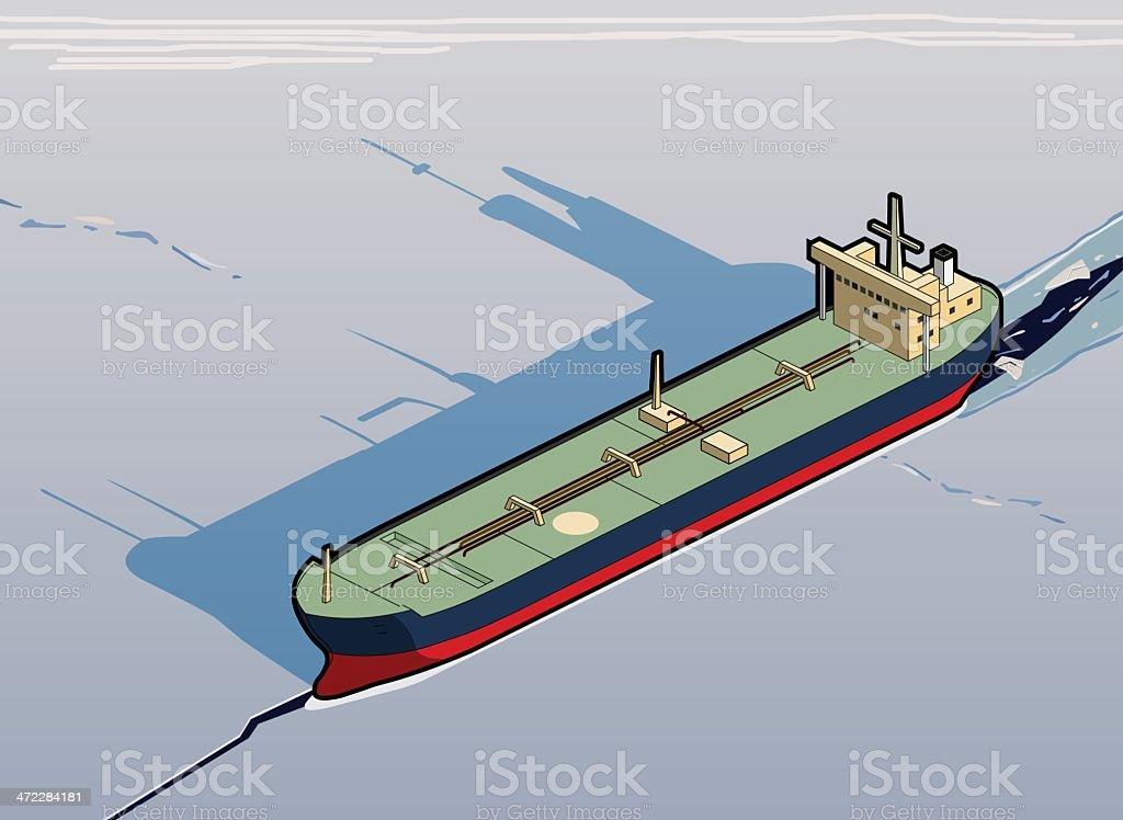 tanker stuck in ice royalty-free stock vector art