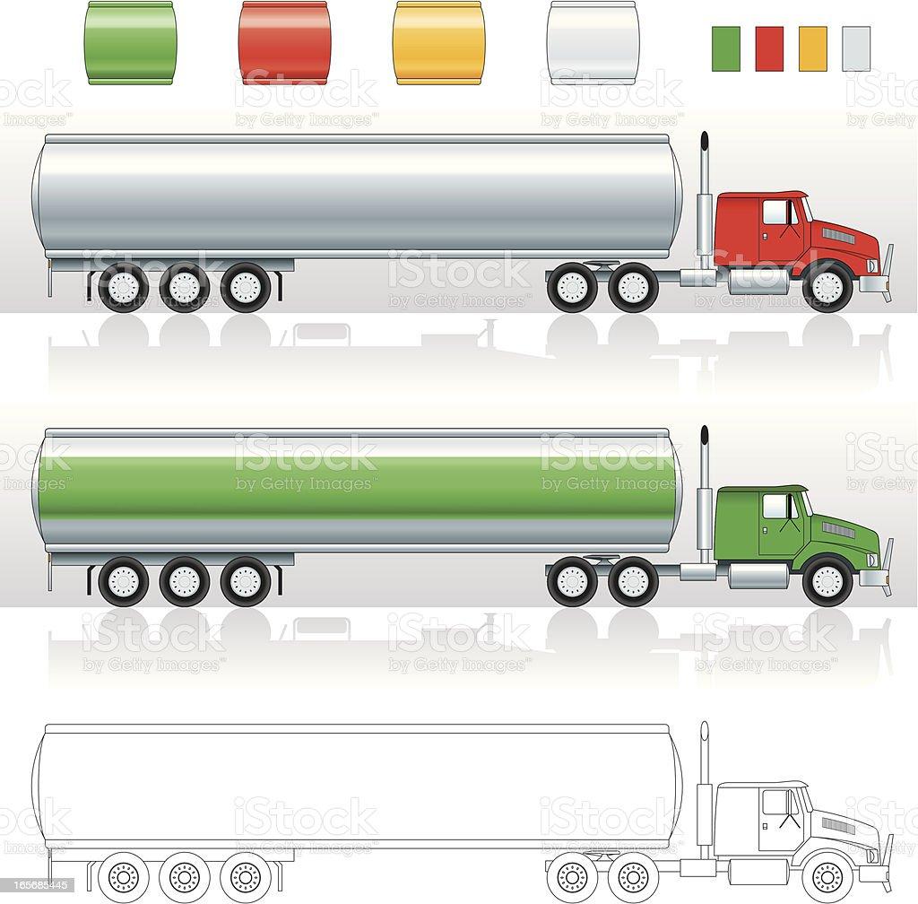 Tanker Truck vector art illustration
