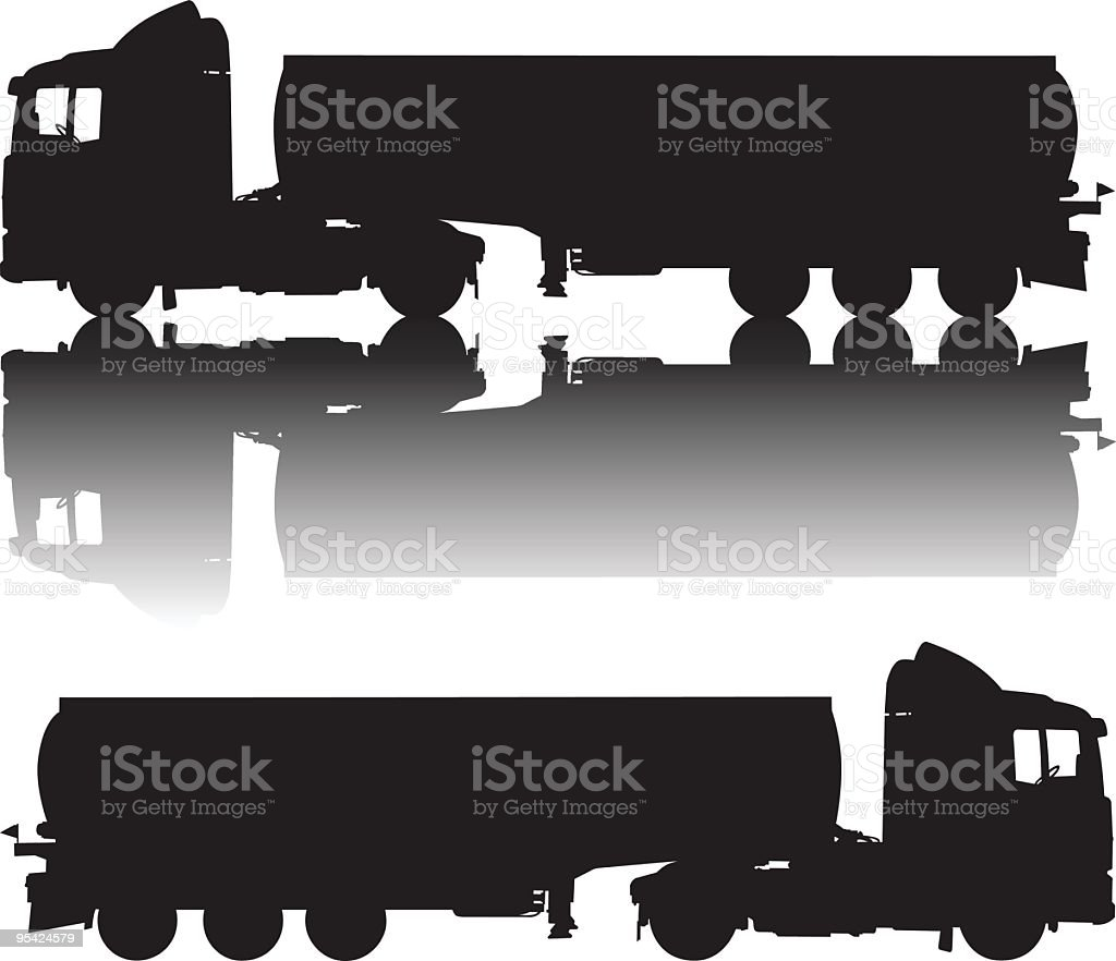 Tanker Truck royalty-free stock vector art