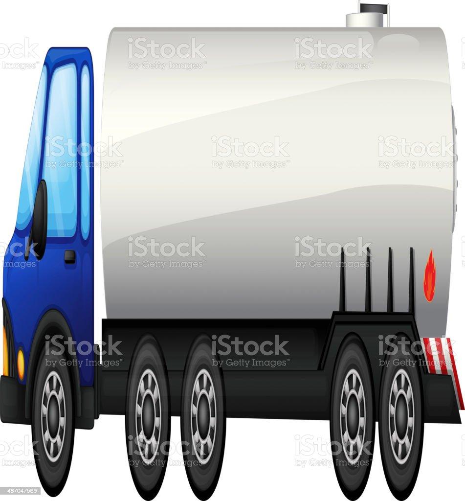 tanker vector art illustration