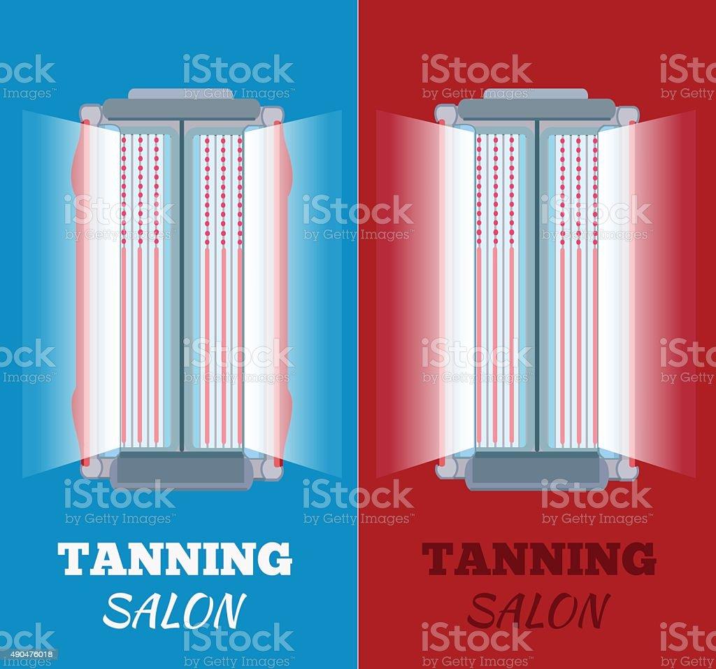Tanning salon vector illustration vector art illustration