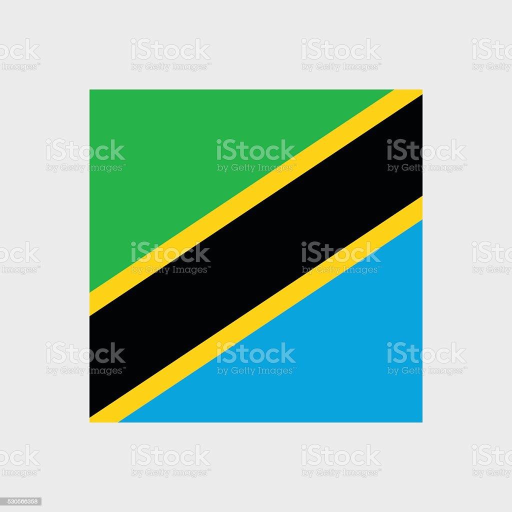 Tanzania flag vector art illustration