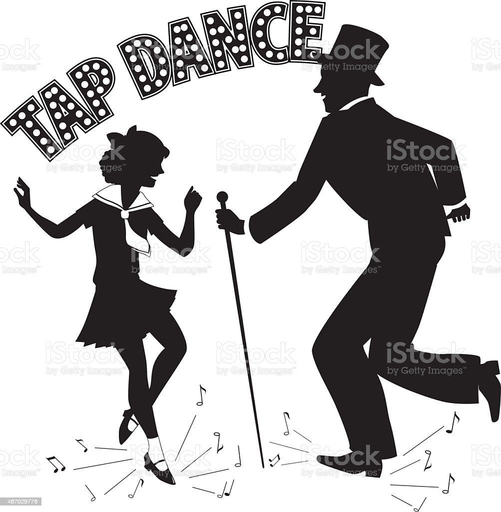 Tap Dance Teacher vector art illustration