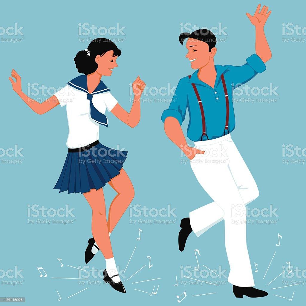 Tap Dance vector art illustration