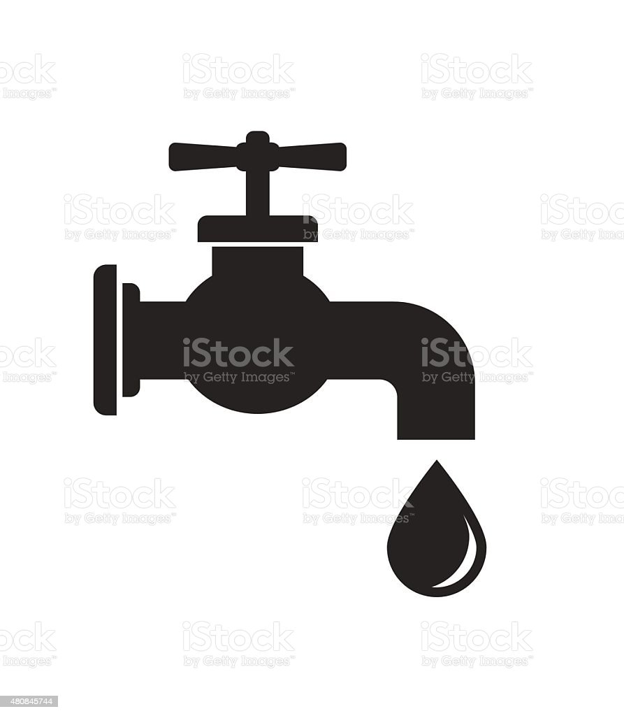 tap faucet icon vector art illustration