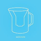 Tap water filter icon