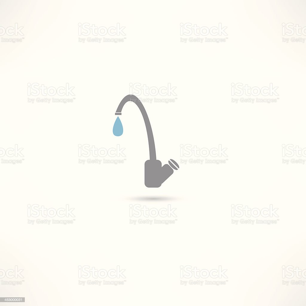 tap water icon royalty-free stock vector art
