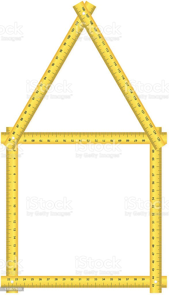 tape measure house royalty-free stock vector art