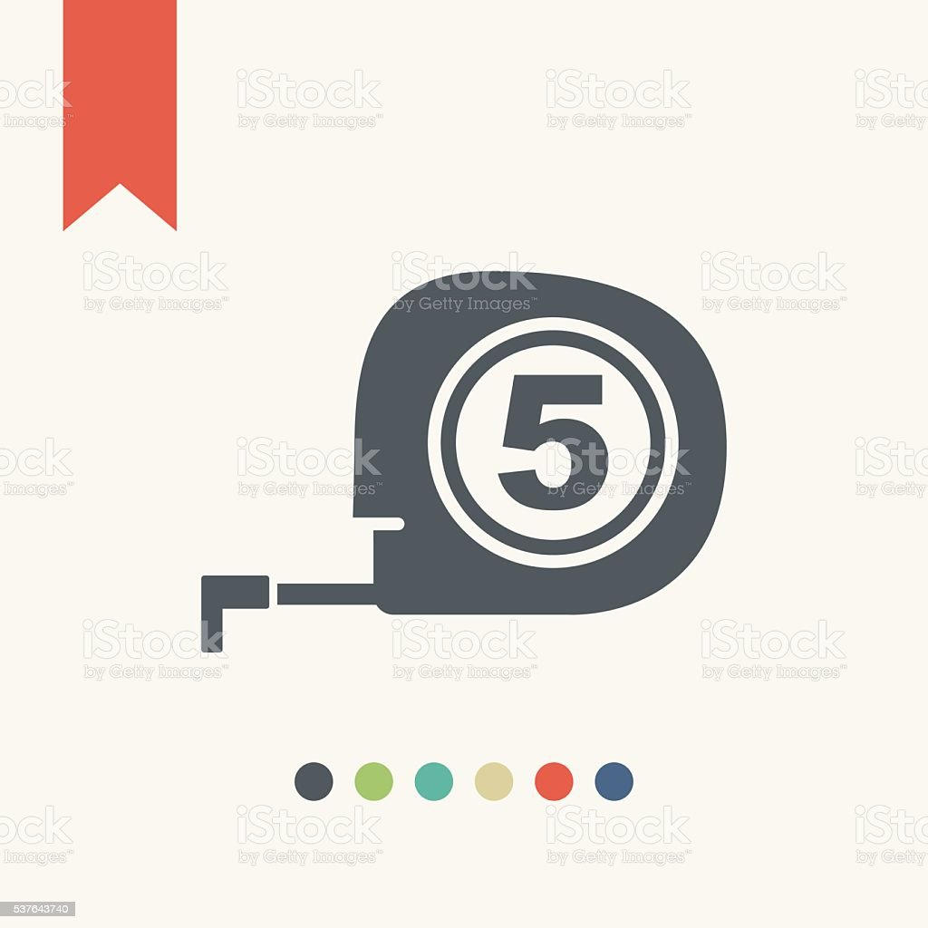 Tape measure icon vector art illustration