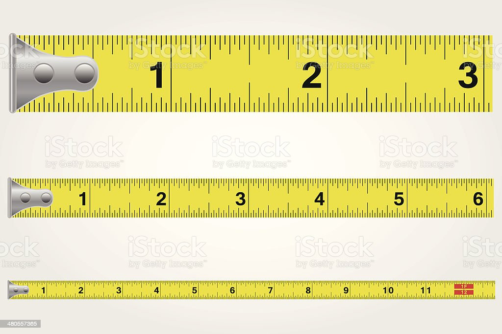 Tape Measure Illustration vector art illustration