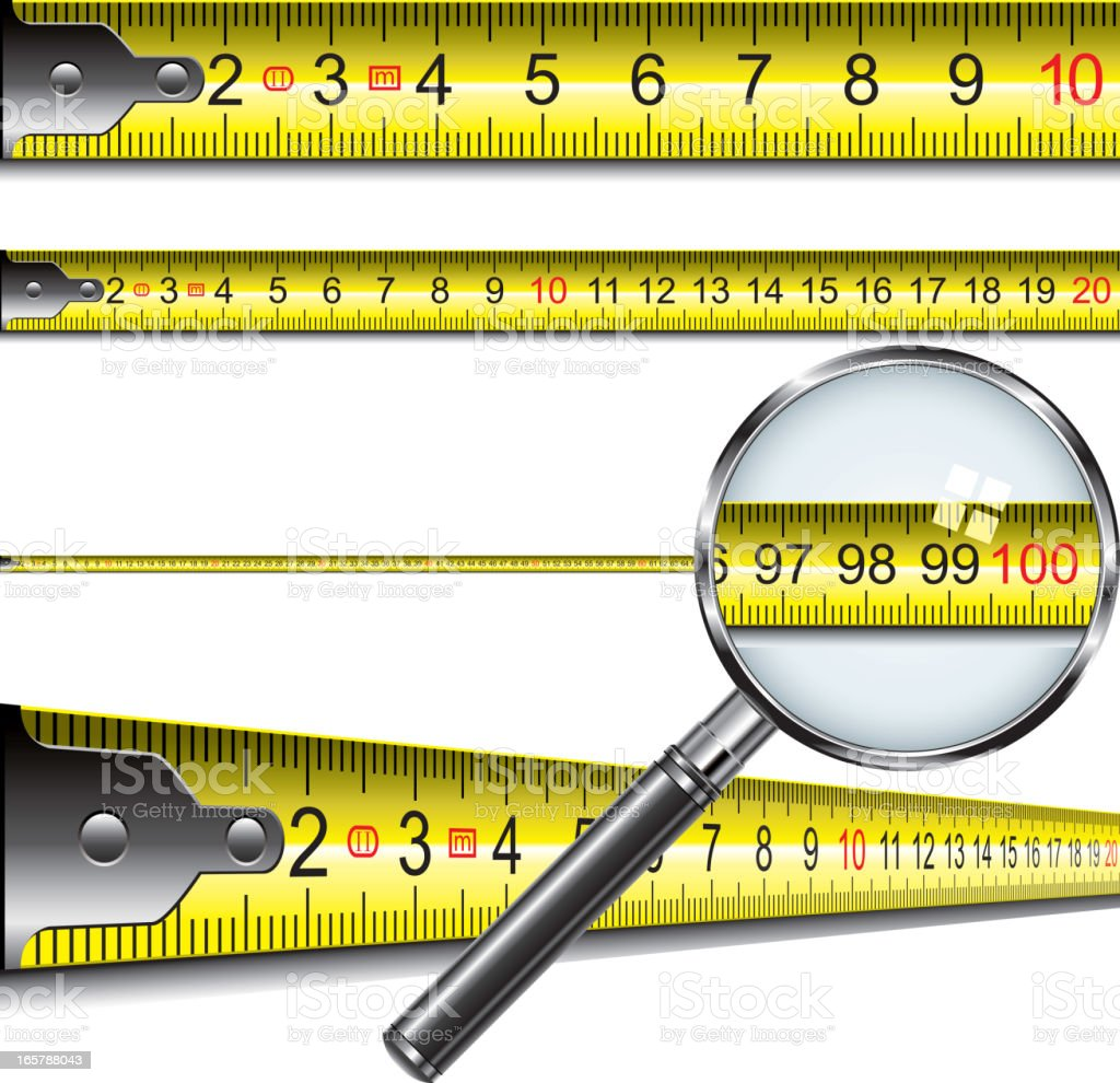 Tape measure in centimeters vector art illustration
