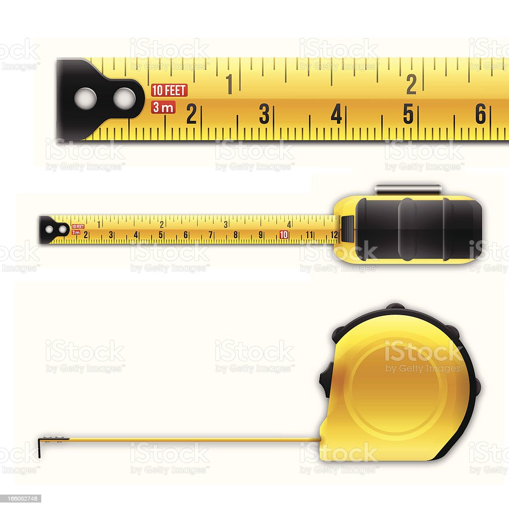 Tape Measure vector art illustration