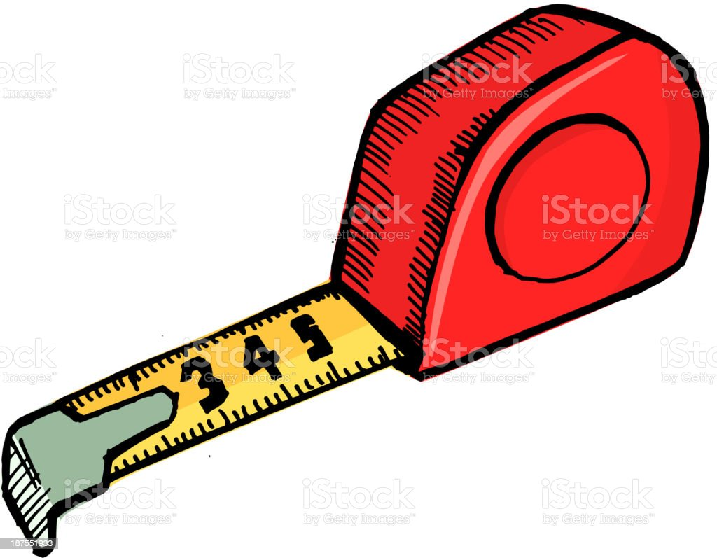 Tape measure royalty-free stock vector art