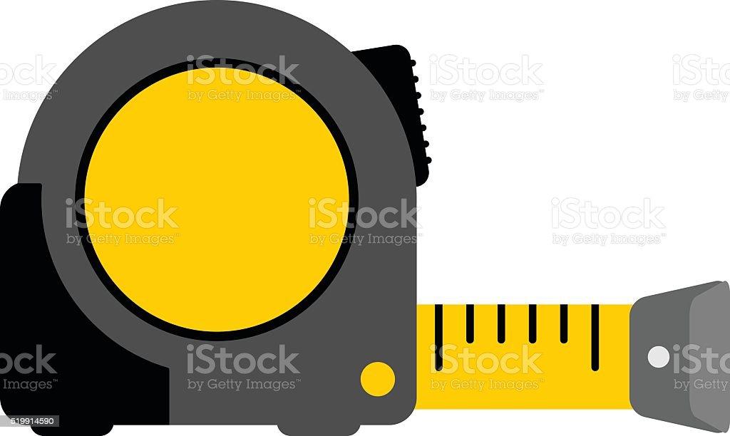 tape measure yellow vector art illustration