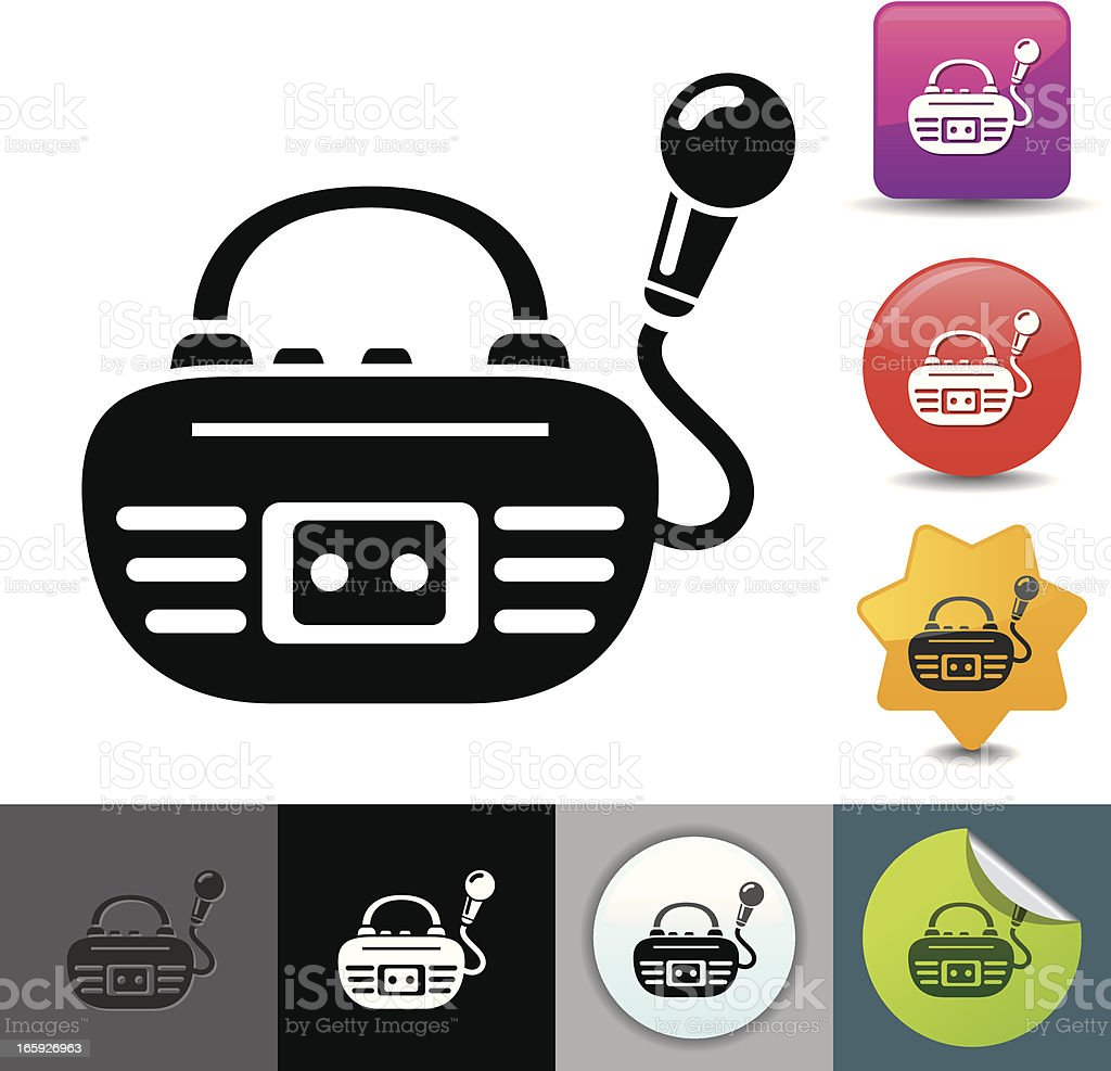 Tape recorder icon | solicosi series royalty-free stock vector art
