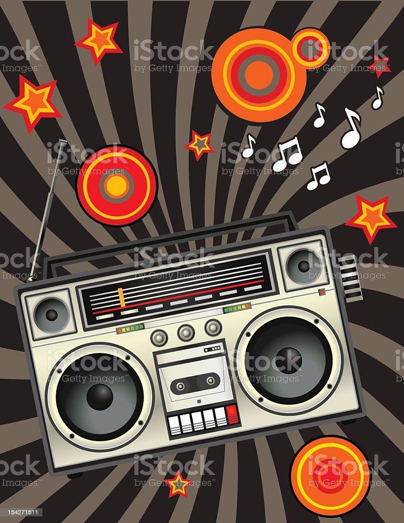 Tape recorder vector art illustration
