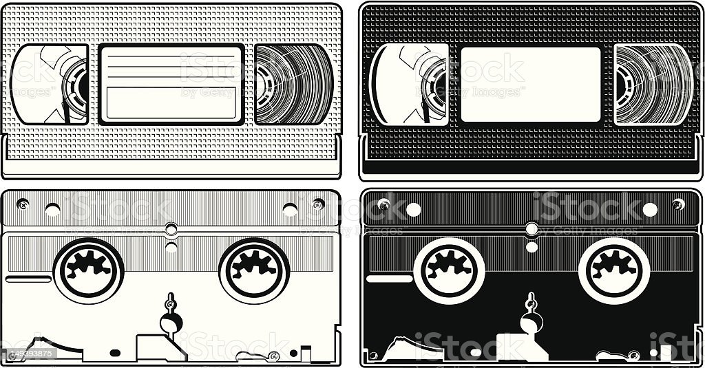 VHS Tape royalty-free stock vector art