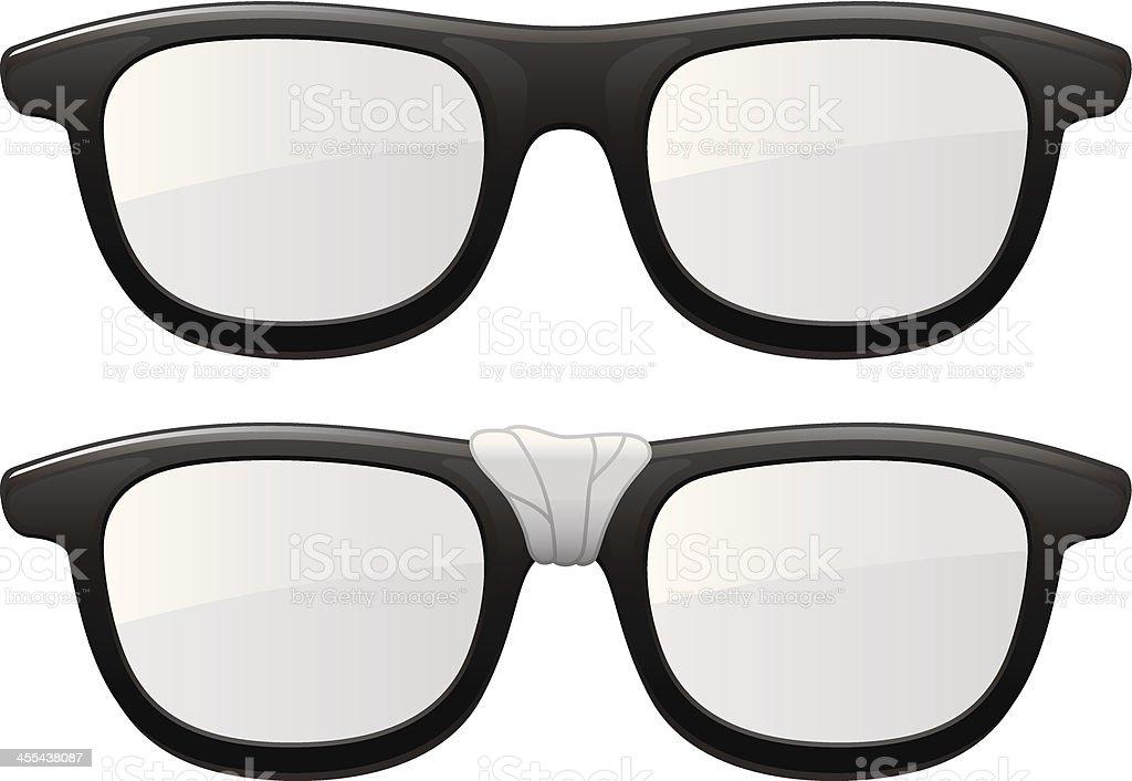 Taped Glasses vector art illustration