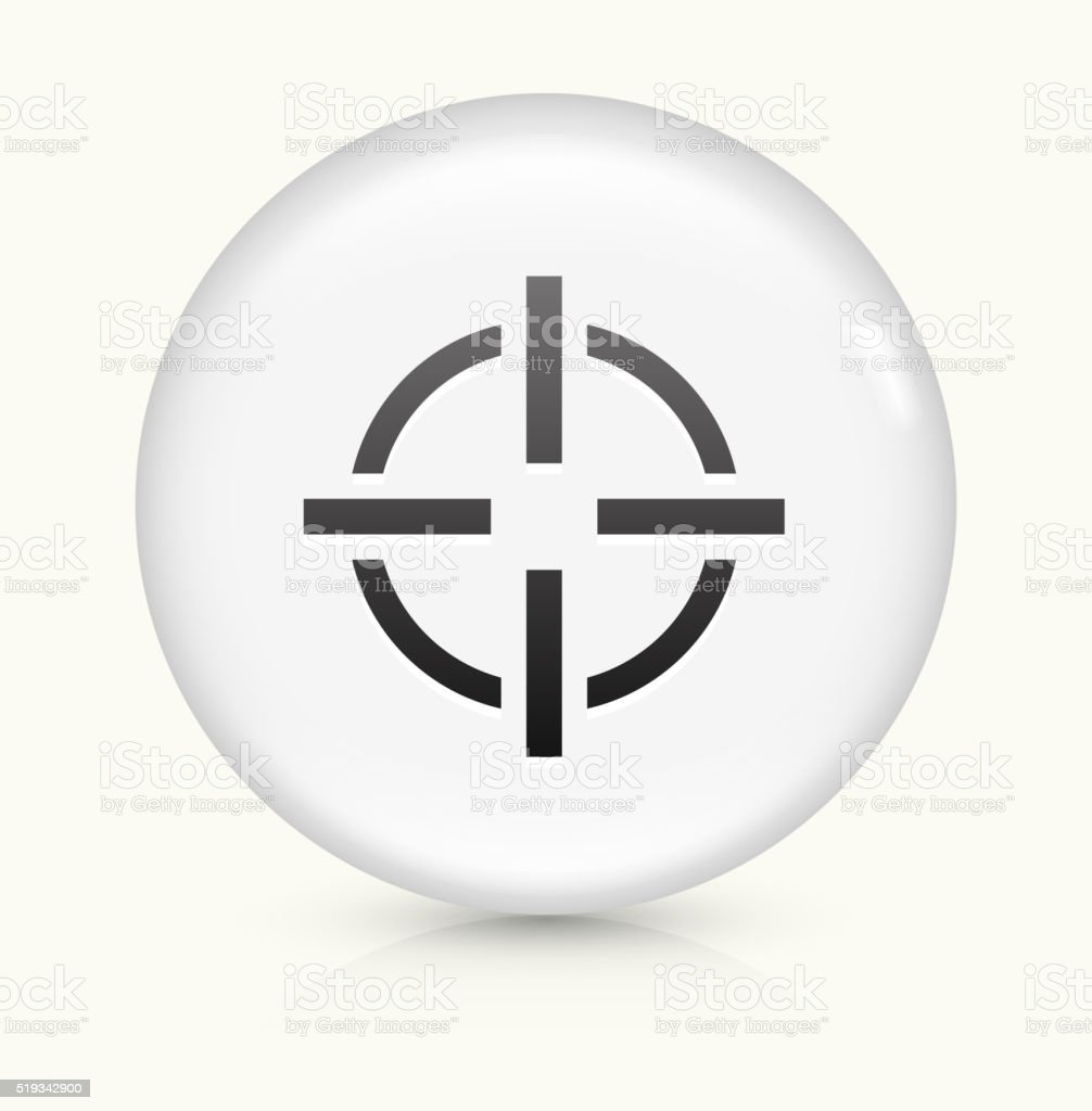 Target Aim icon on white round vector button vector art illustration