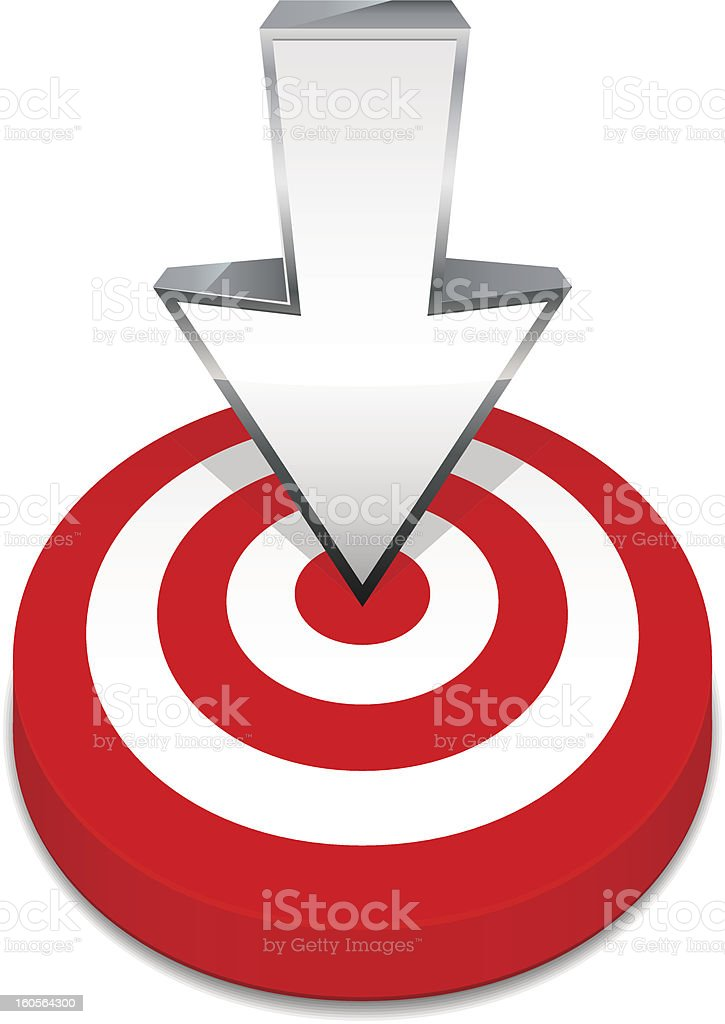 Target and arrow royalty-free stock vector art