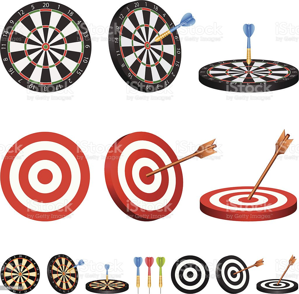 Target and dartboard royalty-free stock vector art