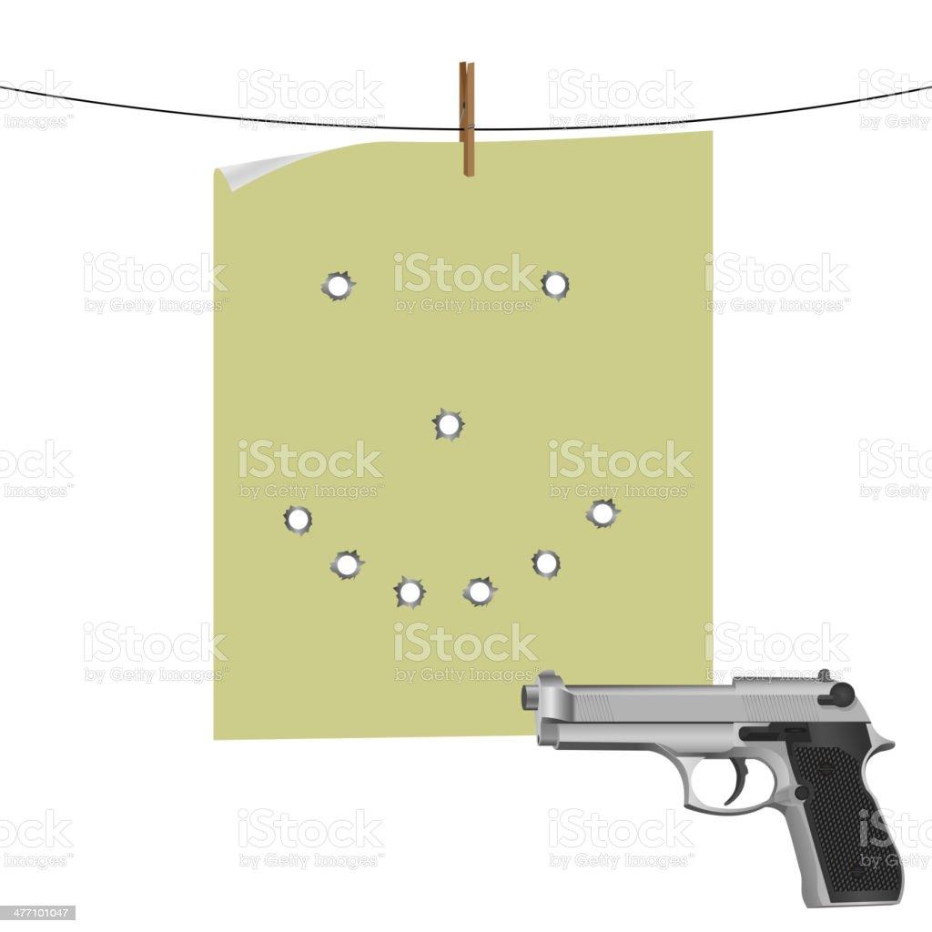 Target and gun royalty-free stock vector art