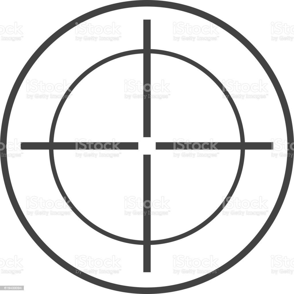 Target circle vector illustration. vector art illustration