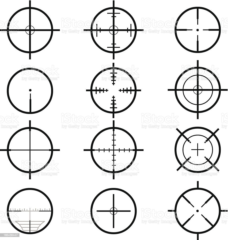 Target Crosshair Icon vector art illustration